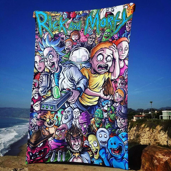 Rick Characters Tapestry