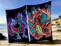 Monster Mewtwo and Charizard DISCOUNTED Tapestry Set