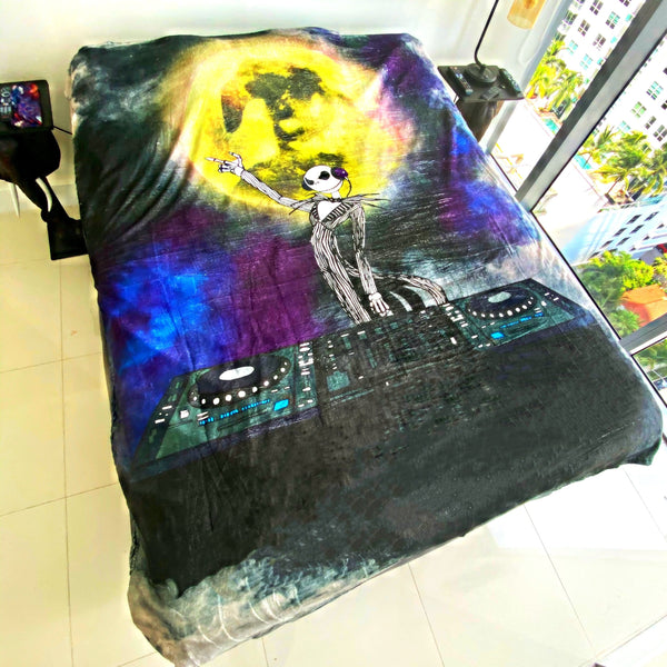 DJ Skelington Christmas Blanket