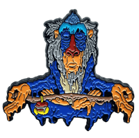 Meditating Rafiki Pin