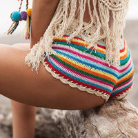 Rainbow Knitted Shorts