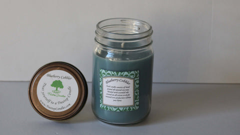 12 oz Blueberry Cobbler soy wax candle