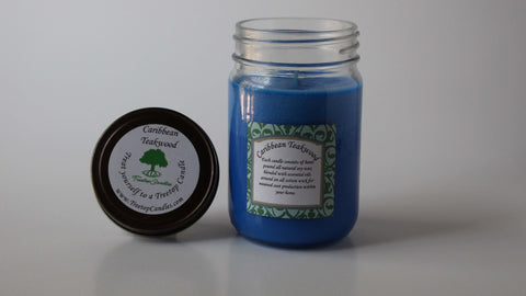 12 oz Caribbean Teakwood soy wax candle