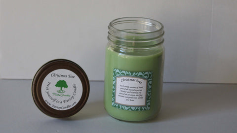 12 oz Christmas Tree soy wax candle