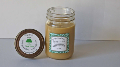 12 oz Gingerbread House soy wax candle