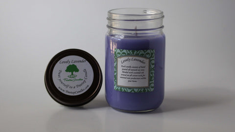 12 oz Lovely Lavender soy wax candle