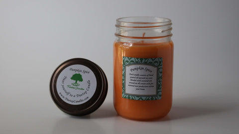 12 oz Pumpkin Spice soy wax candle