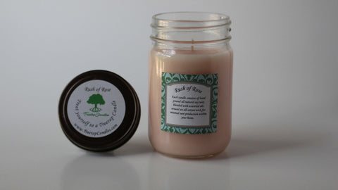 12 oz Rush of Rose soy wax candle