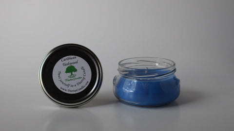 6 oz Caribbean Teakwood soy wax candle