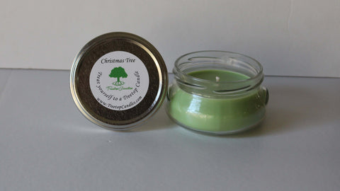 6 oz Christmas Tree soy wax candle