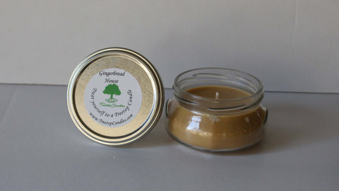 6 oz Gingerbread House soy wax candle