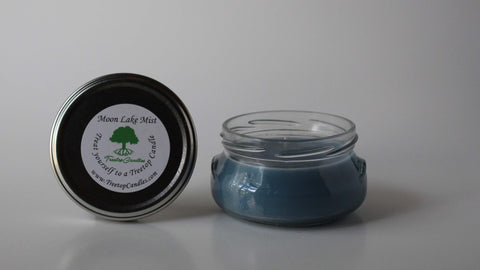 6 oz Moon Lake Mist soy wax candle