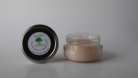 6 oz Rush of Rose soy wax candle
