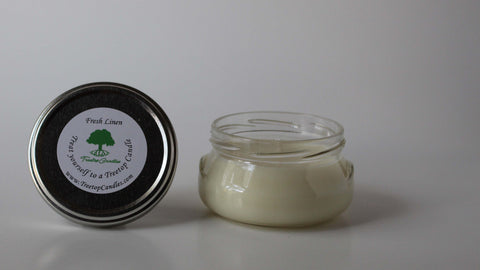 6 oz Fresh Linen soy wax candle
