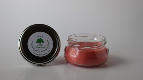 6 oz Peach soy wax candle