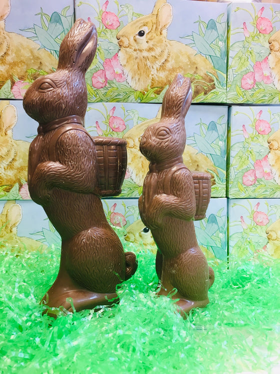 Solid Milk Chocolate Standing Easter Bunny