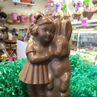 Milk Chocolate Hollow Girl with Bunny