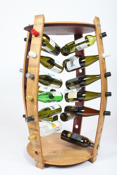 Wine Rack & Bar Table - 28 Bottle Holder