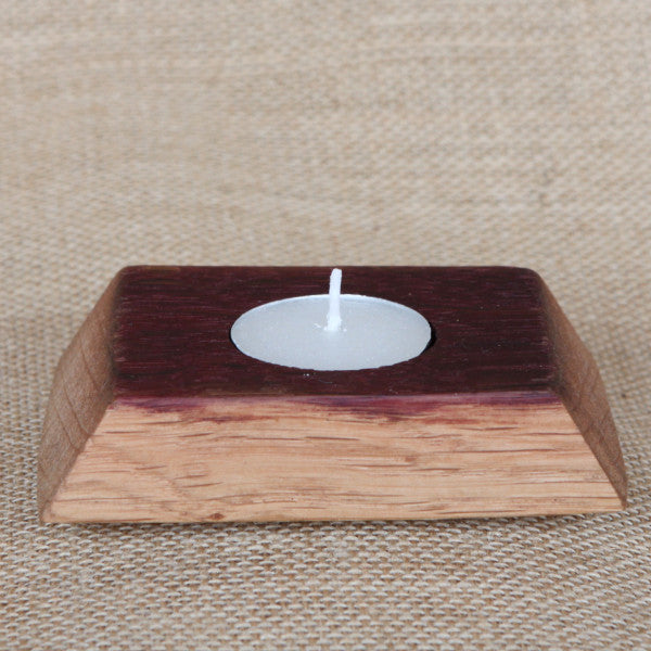 Barrel Stave Candle Holder - Single