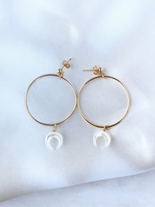 Tiny Horn Earrings