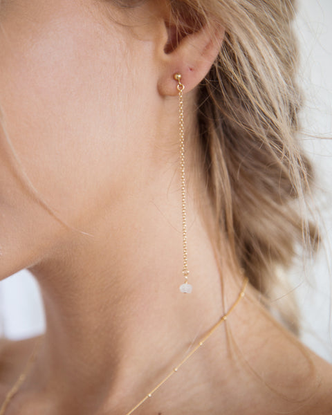 Moonstone Duster Earrings