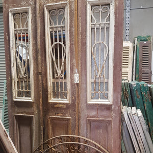 Vintage Solid Wood & Iron Doors - 3 Piece - #31