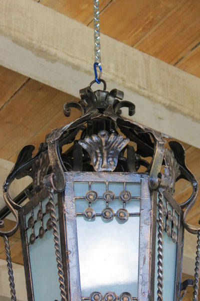 Black Wrought Iron Light - 1 metre high