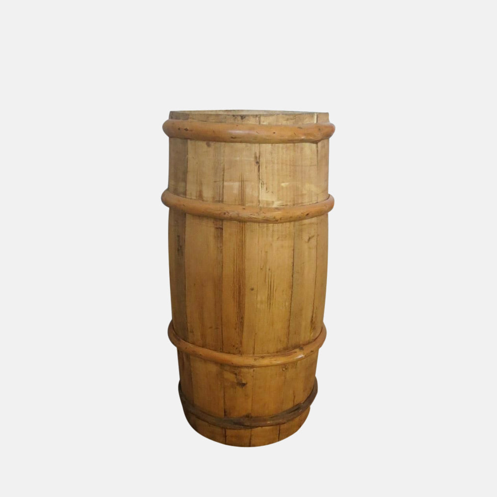 large wooden churn
