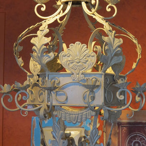 Cream Wrought Iron Light - Very Large