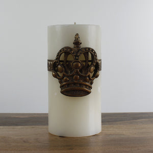 Large Del Ray Candle with Crown