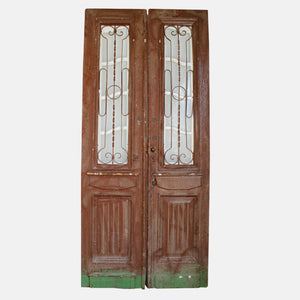 Vintage Solid Wood & Iron Doors #12