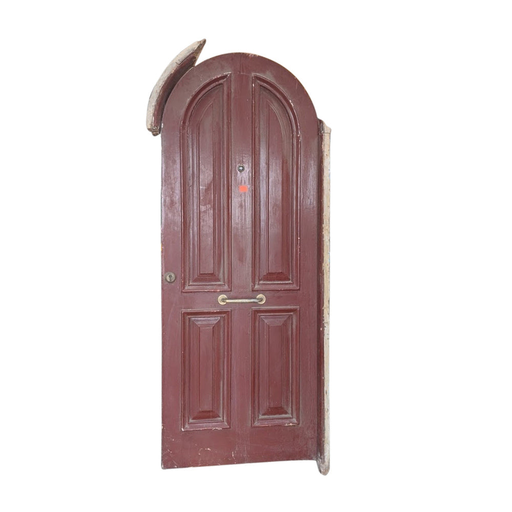 Vintage Solid Wood Arched Door #2