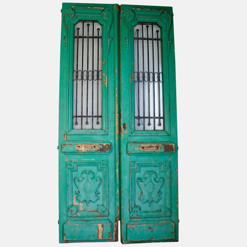 Vintage Solid Wood & Iron Doors #27