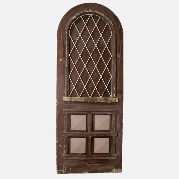 Vintage Solid Wood & Iron Arched Doors #31