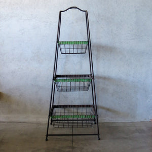 tiered metal fruit stand