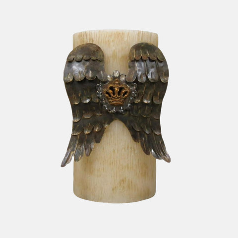 Angel Wing Candle - Bone