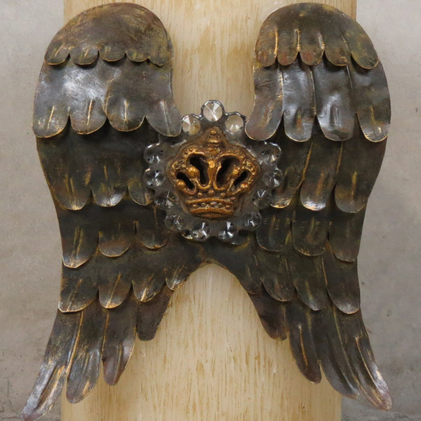 Angel Wing Candle - Bone - Very large