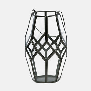 Roma Glass & Metal Lantern