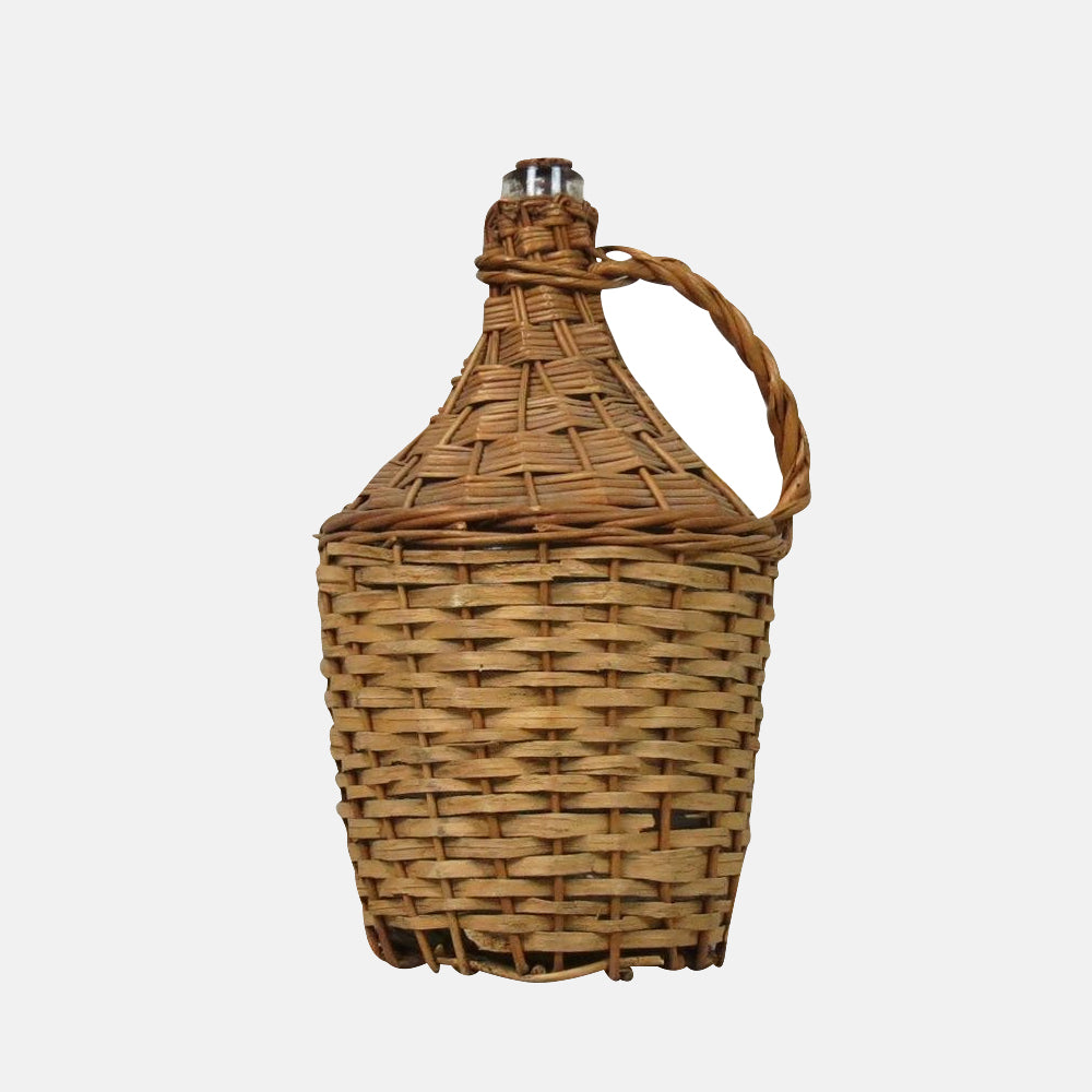 Wicker Covered Wine Bottle