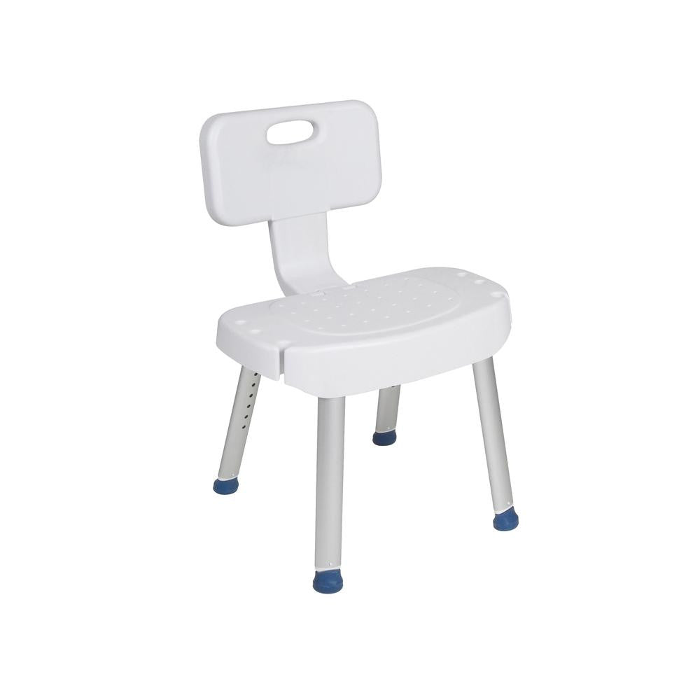 Bathroom Safety Shower Chair with Folding Back - safetyinplace