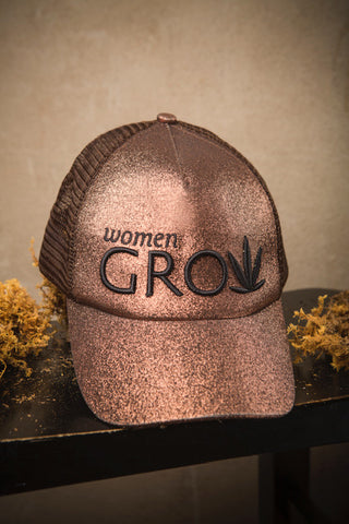 #AccessorizeMyKorto-Copper Glitter Ponytail Cap