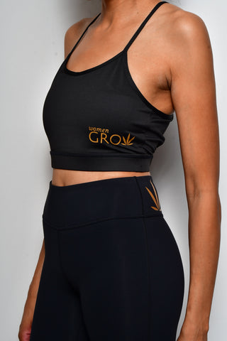 Black Women Grow Sports Bra