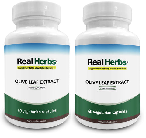 2 Bottles of Olive Leaf Extract 750mg - 120 Vegetarian Capsules