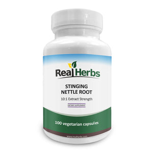 Stinging Nettle Root 10:1 Pure Extract 750mg - 100 Vegetarian Capsules