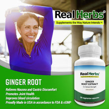 Load image into Gallery viewer, Ginger Root 5:1 Extract 700mg  - 60 Vegetarian Capsules