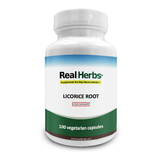 Real Herbs Licorice Root Powder 750mg - Supports Digestive & Respiratory Function  - 100 Vegetarian Capsules