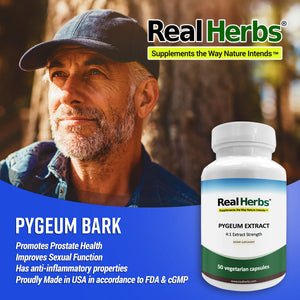 Pygeum  4:1 Extract  500mg - 50 Vegetarian Capsules