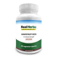 Load image into Gallery viewer, Real Herbs Grapefruit Seed Extract- Derived from 2,800mg of Grapefruit Seed with 4:1 Extract Strength - 60 Vegetarian Capsules