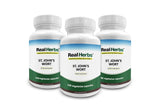 15% Off 3 Bottles of Real Herbs St Johns Wort Standardized to 0.3% Hypericin 500mg - Herb Supplement for Positive Thoughts - Vegan Capsules an alternative to Pills & Tablets - 300 Vegetarian Capsules