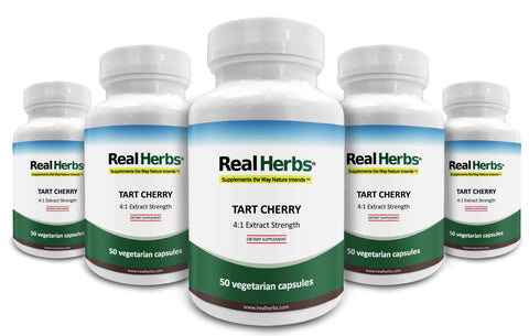 5 Bottles of Tart Cherry 4:1  Extract 700mg – 250 Vegetarian Capsules